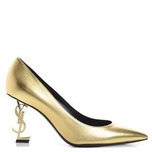 New Size 40 Saint Laurent Opyum Gold Heels